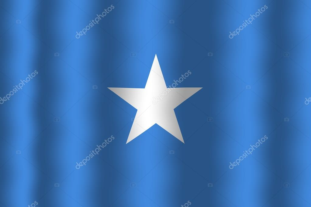 Waving Somalia Flag