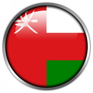 Oman Flag glossy button