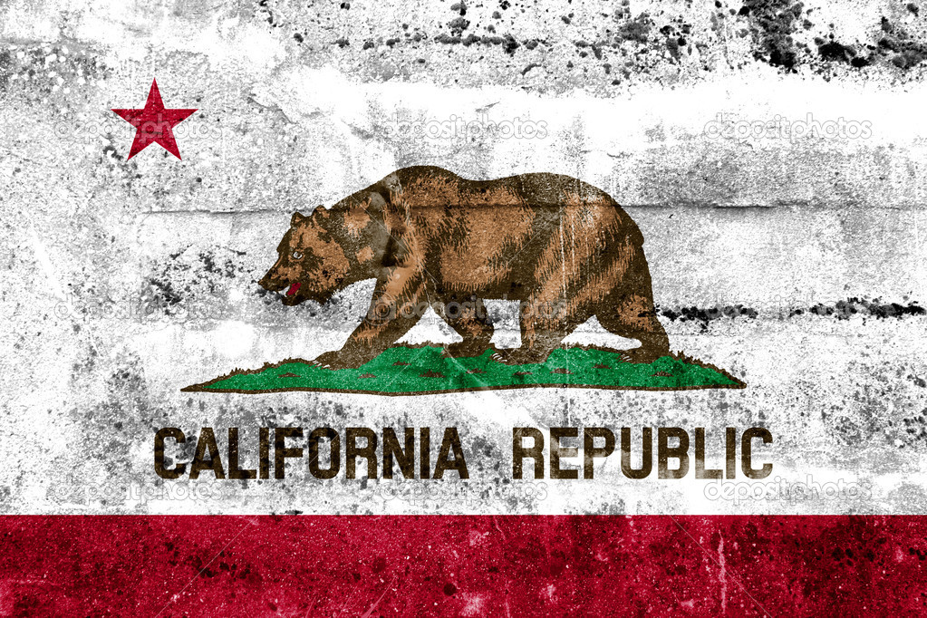 California State Flag Painted On Grunge Wall Photo By PromesaStudio