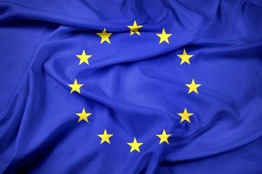Waving EU Flag