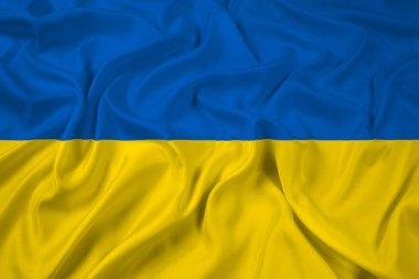 Waving Ukraine Flag