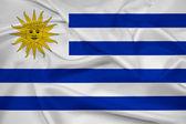 Fotografia sventolando la bandiera uruguay