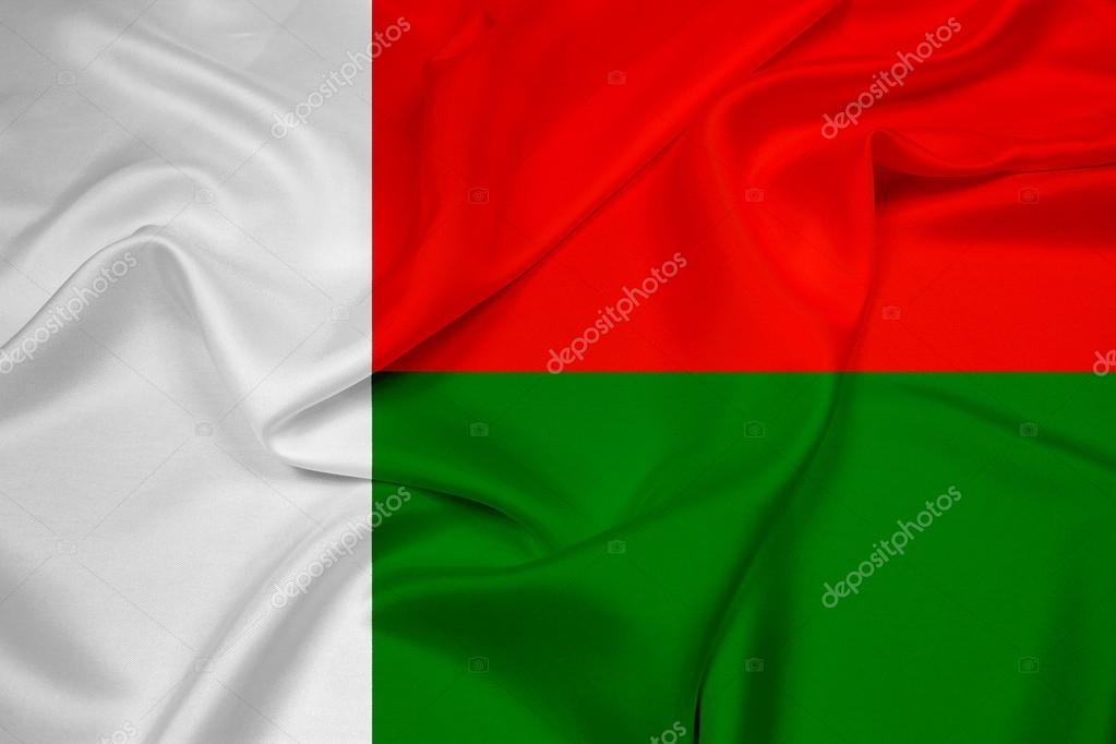 Waving Madagascar Flag Stock Photo PromesaStudio - Madagascar flag