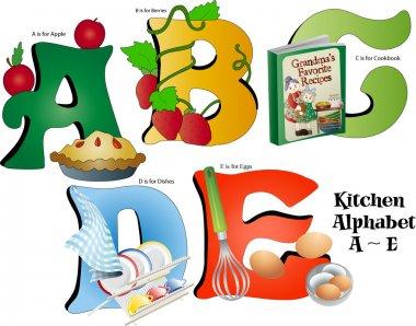 Kitchen Alphabet A thru E
