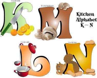 Kitchen Alphabet K thru N