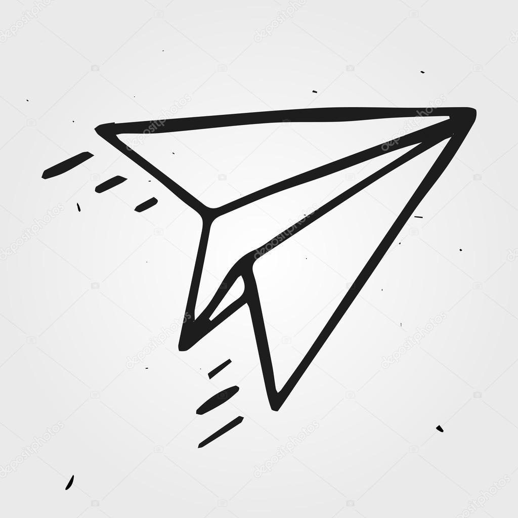 paper plane stock illustration - photo #18