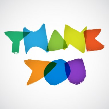 Thank you. Vector illustration