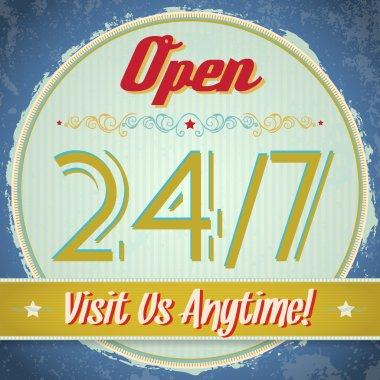 Vintage sign - Open 24/7