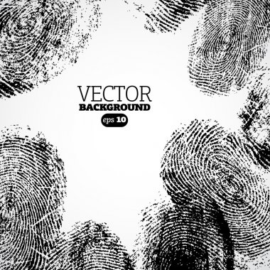 Vector thumb, finger print background.