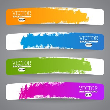Colorful label paper brush stroke, illustration