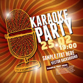 Fotografie Banner with retro microphone for karaoke parties