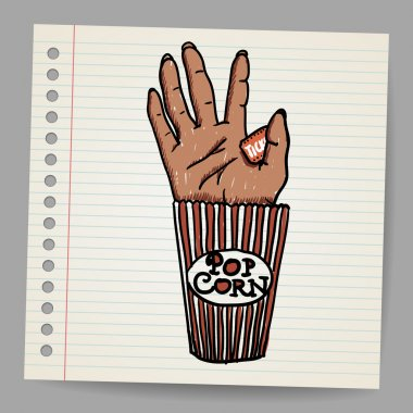 Illustration Of A Creepy Sawn Off Hand. Horror Movie Conceptual