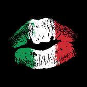 Fotografia Bandiera di rossetto sulle labbra di grunge