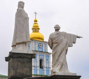 Monument to Princess Olga, St. Andrew in Mikhaylovskaya Square