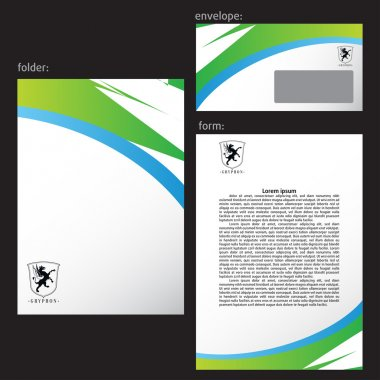 Professional corporate identity kit or business