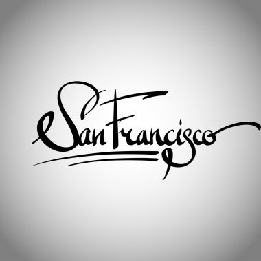San Francisco hand lettering - calligraphy
