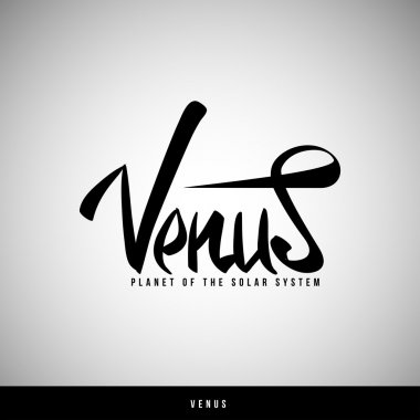Venus hand lettering - handmade calligraphy