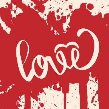Lettering LOVE. For themes. Vector illustration.