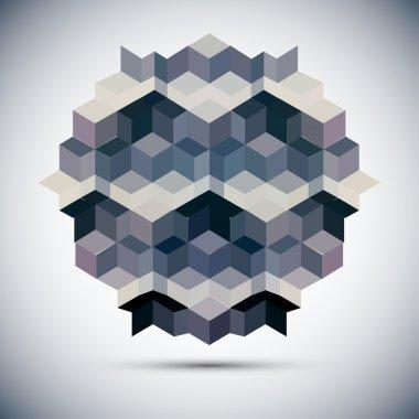 Hexagon kaleidoscope optical illusion