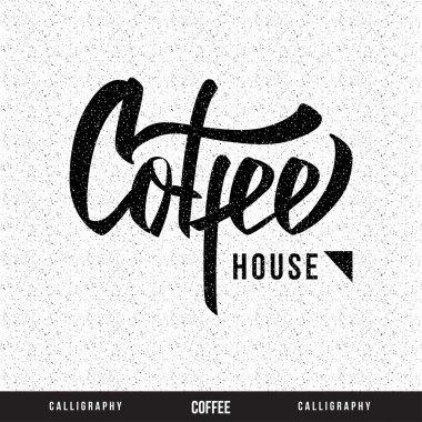 Coffee hand lettering - handmade calligraphy