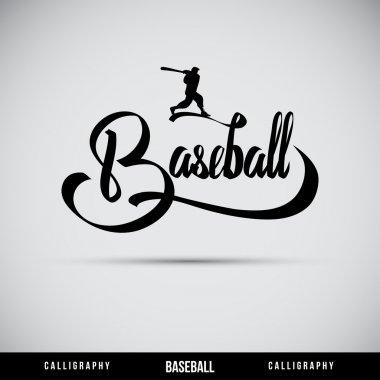 Baseball hand lettering - handmade calligraphy