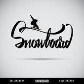 Snowboard-Schriftzug - handgemachte Kalligrafie