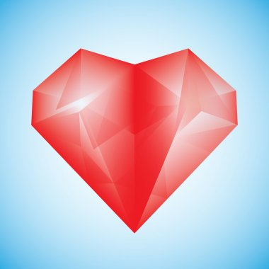 Ruby heart red diamond