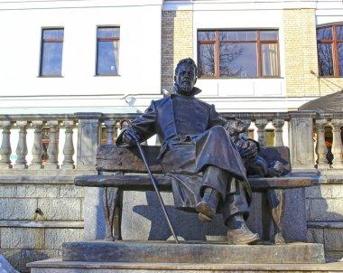 Bronze statue of A.P. Chekhov in Zvenigorod