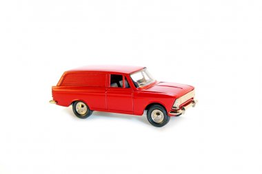 Collectible toy model red car
