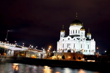 Cathedral of Christ the Savior and Patriarchal bridge in Moscow