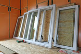 instalace plastových oken v domě frame