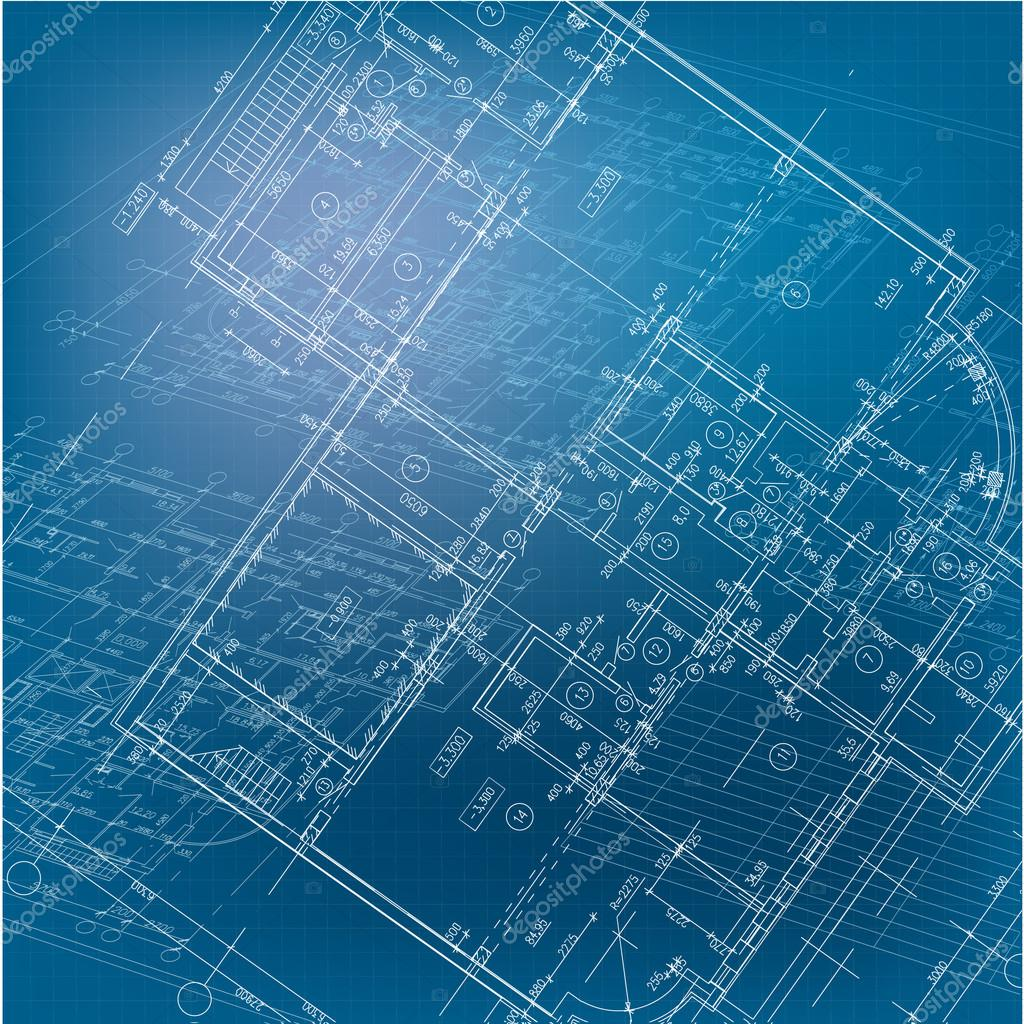 Urban blueprint vector stock vector nahariyani 12855260 part of architectural project architectural plan technical project drawing technical letters architect at work architecture planning on paper malvernweather Gallery