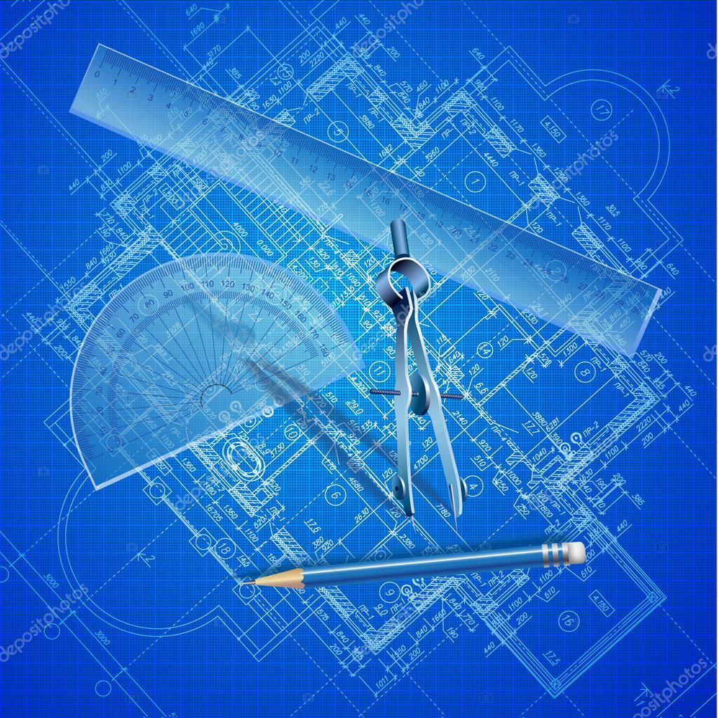 Sfondo architettonico parte del progetto architettonico for Disegno del piano di costruzione