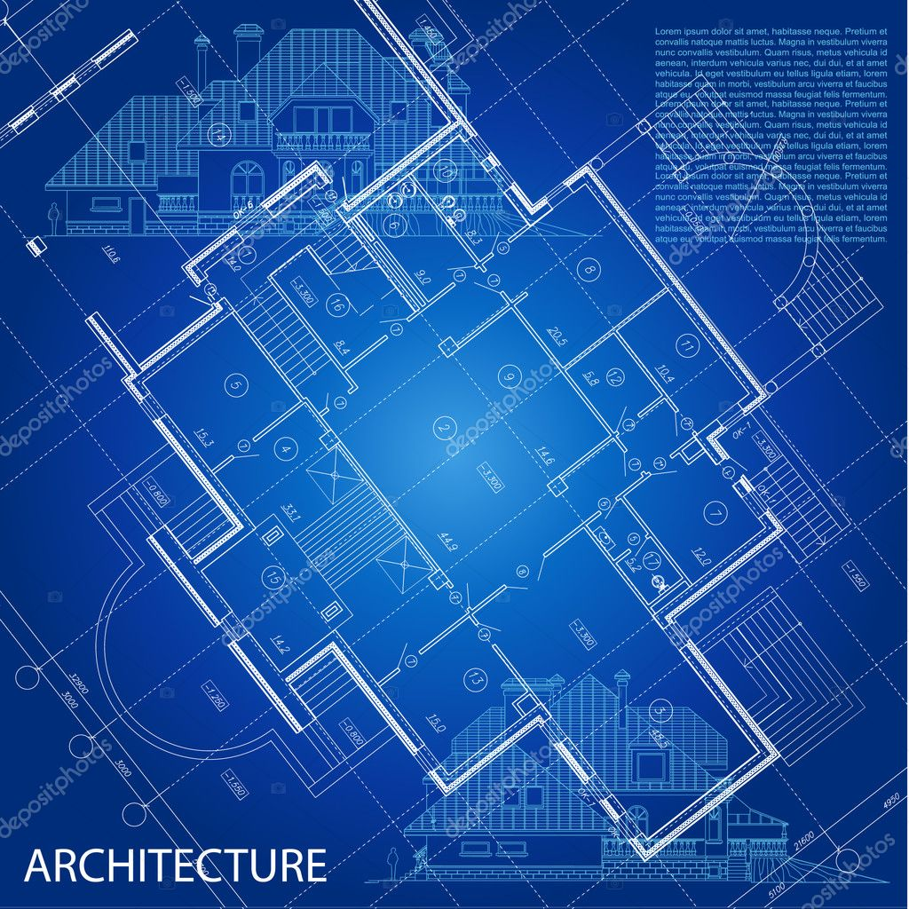 Urban Blueprint. Architectural Background. Part Of Architectural Project,  Architectural Plan, Construction Plan