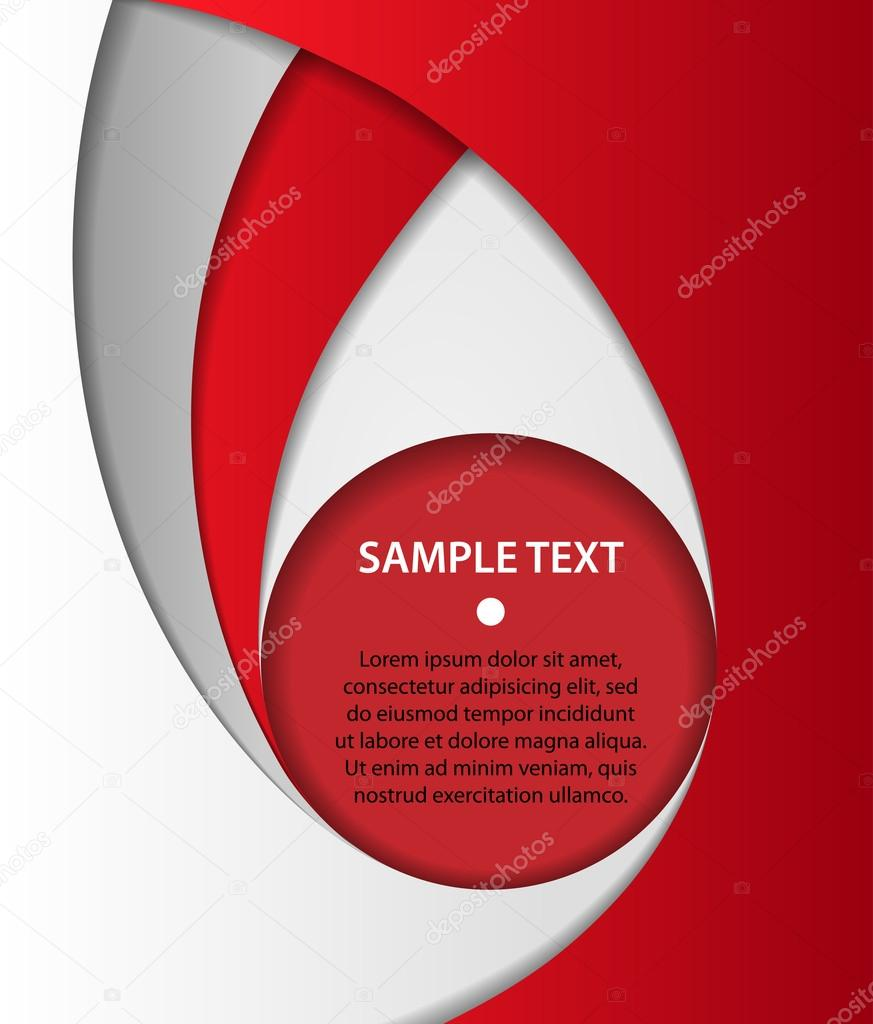 Red and gray business background with bubble, vector
