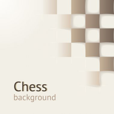 Chess background with drop shadows. Vector concept. Design template for your presentation, brochure and etc.