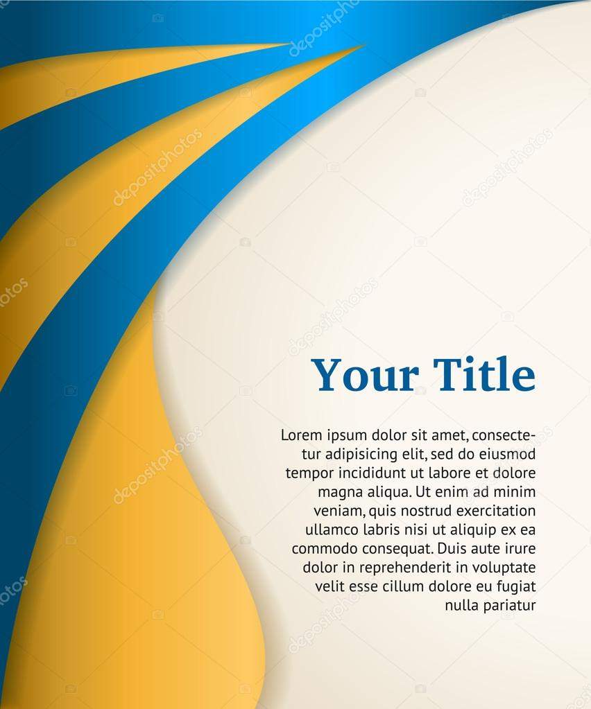 blue and gold business background, modern vector template — stock