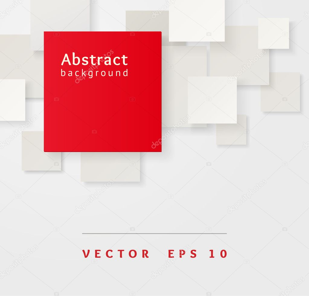 Red and gray overlapping squares. Business abstract Illustration.