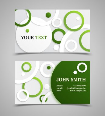 Green and gray modern business card template.