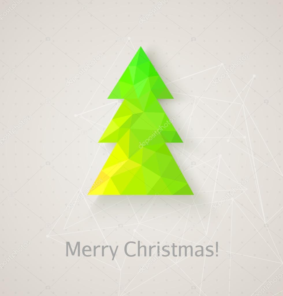 retro christmas tree made of triangles stock vector 35121535 - Retro Christmas Tree