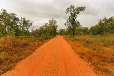 Outback road in the Northern Territory of Australi