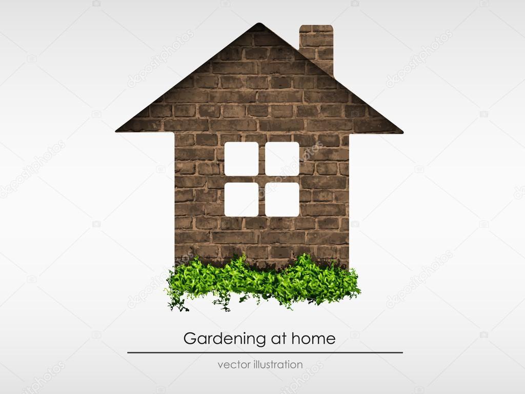 The process of gardening at home. concept of ecology. vector illustration