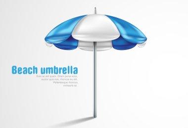 Beach umbrella on a white background