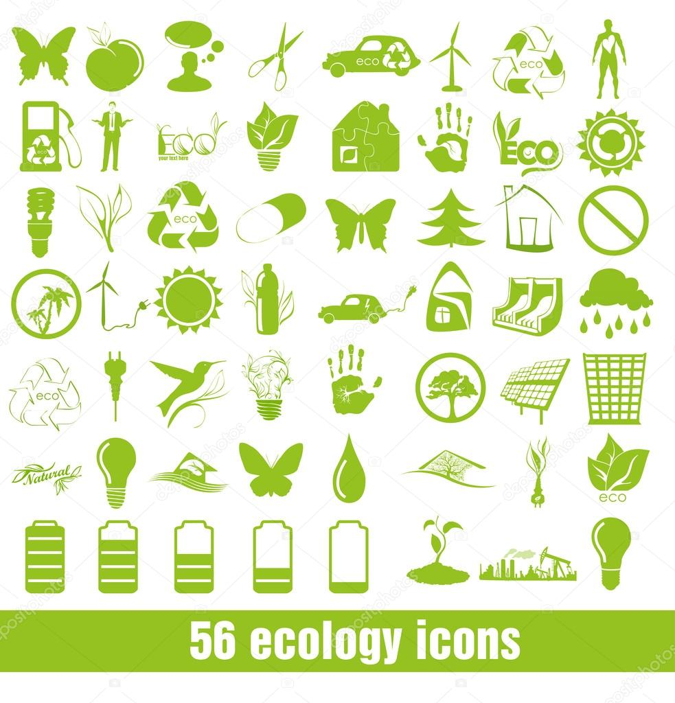 56 Ecology and recycle icons