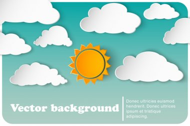 Sunny-cloudy background paper