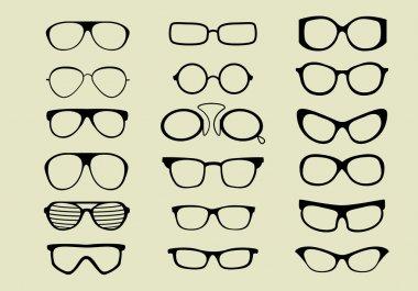 Set of different glasses