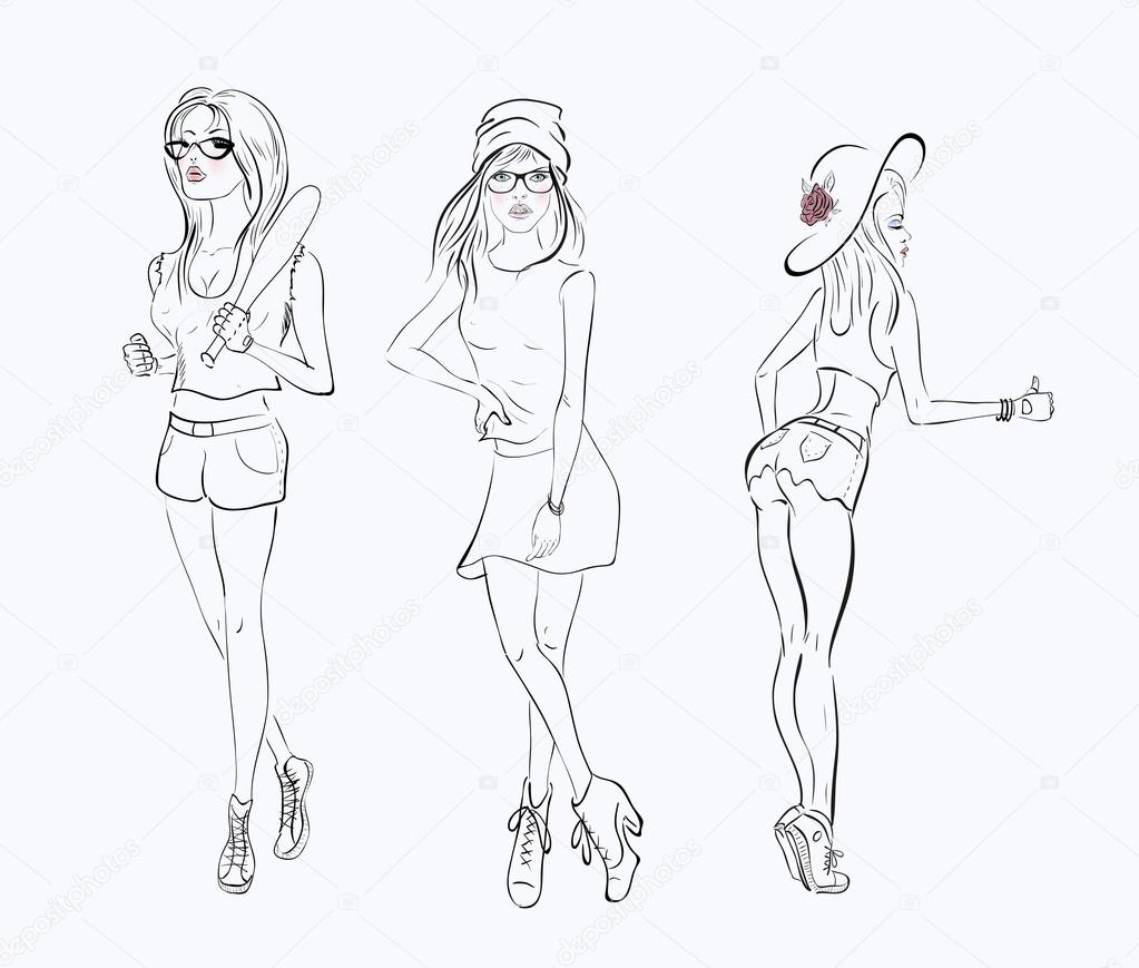 short dress drawing