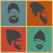 Barevné ikony muž čelenku
