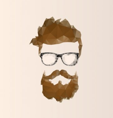 triangular icon hipster