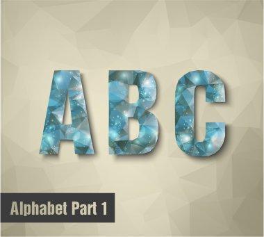A B C Alphabet letters